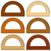 Wooden Protractor
