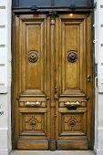 Brown Wood Old Door In Buenos Aires