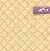 Crisp waffles pattern seamless texture. EPS10 vector Illustration.
