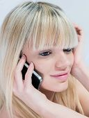 Close-up Of Very Attractive Teen Girl With Mobile Phone