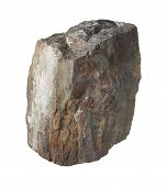 image of slag  - a brown slag stone in white back - JPG