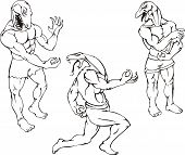 Réptil mascotes - Gator, lagarto, Cobra