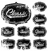 Vector Distressed Retro Label Set. Easy to edit. All layers are separated.