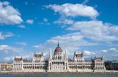 cloudscape on Hungarian Parliament, Budapest