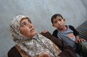 Mother And Son In Gaza