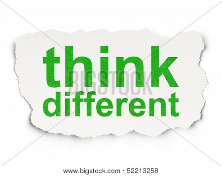 Education concept: Think Different on Paper background poster