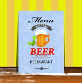 Best traditional fresh cold Beer. Restaurant menu.