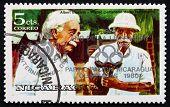 Postage Stamp Nicaragua 1979 Albert Einstein And Albert Schweitz