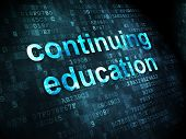 Education concept: Continuing Education on digital background