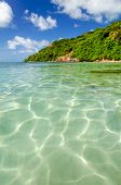 Clear Water And Tropical Island