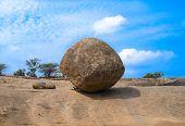 Balancing Ball In Mahabalipuram
