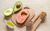 stock photo of cross-section  - Food With Unsaturated Fats - JPG