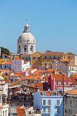 Lisbon view of Alfam's region and Santa Engrassiya's (Pantheon) church.