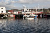 Fishing Boats Moored In The Calm Waters Of Killybegs
