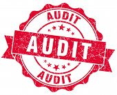 stock photo of financial audit  - audit red grunge stamp on white background - JPG