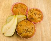 Home baked Pear muffins