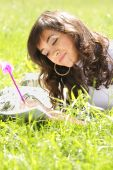 Drawing Laying On Grass