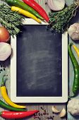 Slate Board With Fresh Vegetables