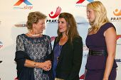 HOLLYWOOD -  Princess Theodora, Queen Anne-Marie of Greece with Nia Vardalos arrive at the 2013 Phil