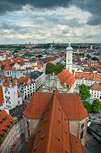 View of Munich city center showing Old Town Hall. Munchen, Germany