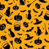 Halloween seamless background. Vector illustration.