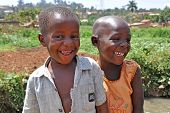 Children Laugh In Kampala Slums