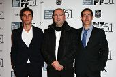 NEW YORK-OCT 12: (l-r) Adam Bakri, Hany Abu-Assad and Waleed Zuaiter attend