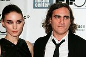 NEW YORK-OCT 12: Actor Joaquin Phoenix (R) and Rooney Mara attend