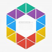 Colorful Flat Triangle Background