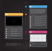 Colorful Flat Timeline Infographics