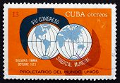 Postage Stamp Cuba 1973 Wrench And Globe