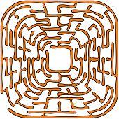 Orange Round Maze