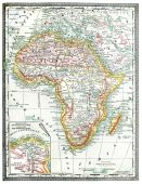 Old Map Of Africa.