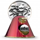 Contest Word Gumball Machine Random Winner Drawing