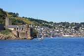 stock photo of dartmouth  - Dartmouth castle by the River Dart - JPG