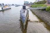 Submarine In Port Of Hamburg