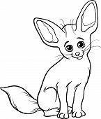 Fennec Fox Animal Coloring Page