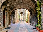 Arched medieval lane