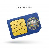 State of New Hampshire phone sim card with flag.