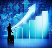 Business People Travel With Economic Recovery