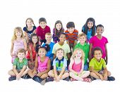 stock photo of pre-adolescent girl  - Large Group of Children - JPG