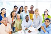 Group of Diverse Business Colleagues Smiling at Office