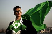 stock photo of superhero  - Superhero of Green Business - JPG