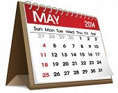 Vector of May 2014 Calendar