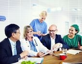 image of physicist  - Doctors in Meeting At Hospital - JPG