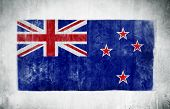 Painting Of The National Flag Of New Zealand