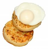 Poached Egg And Crumpets