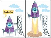 image of yuri  - Comics about rocket taking off - JPG