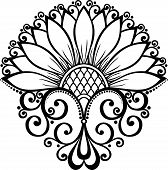Beautiful Decorative Flower (Vector), Patterned design