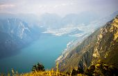 Lake Garda in the Alps